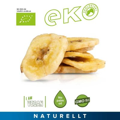 Bananchips ekologiska