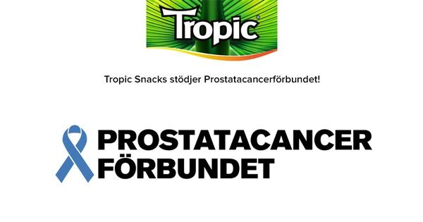 Tropic Snacks stödjer Prostatacancerförbundet!