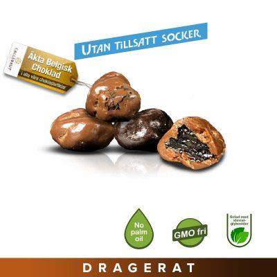 Sockerfria Russin Mix Mörk/Mjölkchoklad